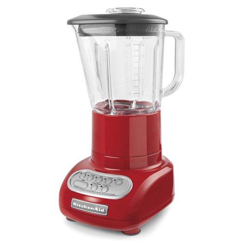 kitchenaid 5 speed blender with glass blender jar ksb565 red